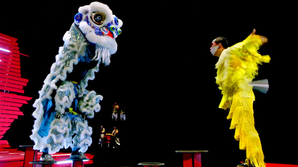 The world's first ever non-stop lion dance